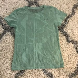 Like new under armour green and gray top